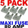 MAXI FUSES (5pk) BLADE STYLE FUSE 80A 80 AMP