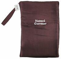 Brown Single Pure Silk Sleeping Bag Liner Travel Sack Inner Sheet Hostel Camping
