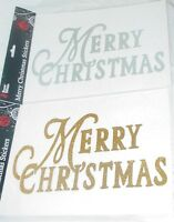 MERRY CHRISTMAS WINDOW STICKERS GOLD OR SILVER (PM46)