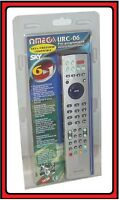 OMEGA 6 IN 1 UNIVERSAL URC-06 SKY SHY+ FREEVIEW TV DVD VCR  COMPATIBLE 23106