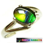 Elegant flashy unique( Like opal ) Ammolite Sterling Silver Ring Size 7