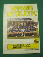 PROGRAMME - Wigan Athletic v Mansfield Town - 25 Aug 1990