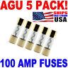 5 PACK AGU FUSE 100AMP GOLD PLATED 100 AMP AGU FUSE FAST FREE USA SHIPPING! 100A
