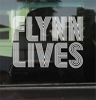 TRON LEGACY FLYNN LIVES  8 INCH  VINYL DECAL / STICKER