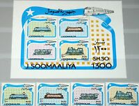 SOMALIA 1994 524-27 Block 33 Lokomotiven Züge Trains Railway Locomotives MNH