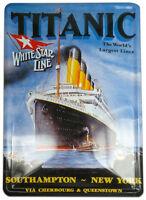 Titanic/A4 Metal/Wall Sign/Harland & Wolff/White Star Line/Belfast/Ireland/New