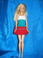 french handmade barbie doll dress robe de poupée barbie unique de collection