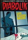 Diabolik. Anno XXXVII N. 4 / Capo d'accusa: Omicidio. Aprile 1998 /Fumetti