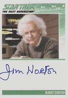 STAR TREK TNG NEXT GENERATION SERIES 2 JIM NORTON EINSTEIN AUTO AUTOGRAPH CARD