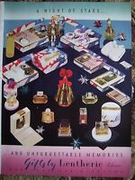 1939 Vintage LENTHERIC Perfume Powder Cosmetics Full Page of Gifts Color ad
