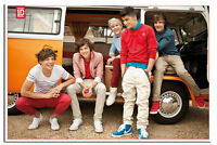 One Direction In Camper Van Large Wall Poster New Sealed Free UK P&P