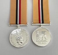 Iraq Op Telic Full Size Medal, Military, Ribbon, Replacement, Army, British