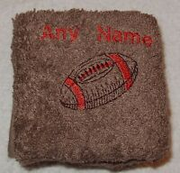 Personalised Rugby Ball Face Cloth Flannel Any Name Cotton Birthday Christmas