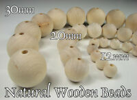 Natural Wooden Beads, 100% of Natural Beech Wood, PERFECT QUALITY ! ! !
