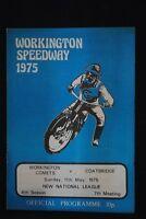 SPEEDWAY - Workington Comets v Coatbridge - 11 May 1975