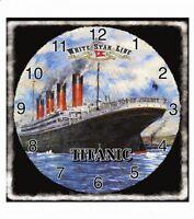 Titanic/Square/Titanic/Wall Clock/Harland & Wolff/White Star Line/Belfast/New