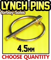 4.5mm Lynch Pins Linch Clips Trailer Digger Tractor Excavator Spring x10 or x50