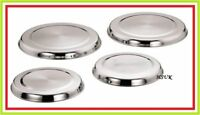 4 PC STAINLESS STEEL HOB COVERS SET GAS COOKER HOB LIDS PROTECTOR BURNER SAFETY