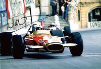 Richard Attwood SIGNED Autograph 12x8 Photo AFTAL COA British Formula One Driver
