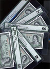 Devils Face $1 Bank Of Canada 1954 PMG 66 FIVE CONSECUTIVE Scarce IN A ROW