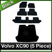 Tailored Fitted Carpet Mats + Boot VOLVO XC90 5 PIECE (2003 2004 2005 ...) Black