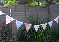 BUNTING-NEW 5 METRES (15 FEET)  Cotton Shabby Chic Handmade Decoration