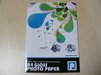 A4 GLOSSY GLOSS FINISH PRINTER PHOTO PAPER HIGH RESOLUTION 200GSM 9 SHEETS - NEW