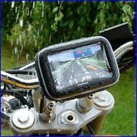 """5"""" Waterproof 360 Motorcycle Bike Cycling GPS SAT NAV Case/Bag w/Mount Holder"""