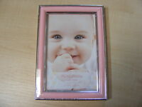4x6 INCH SMALL PINK AND SILVER PICTURE PHOTO FRAME WITH GLASS HANG OR STAND NEW