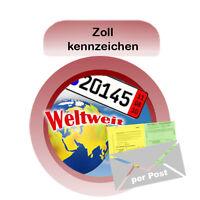 Zollkennzeichen Versicherung 30 Tage für PKW + IVK mit grüner Karte