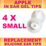 4x Silicone Replacement Small Gel Tips for Apple In Ear Buds Earphone Headphone