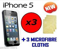 3x HQ CLEAR SCREEN PROTECTOR COVER LCD GUARD FILM FOR APPLE IPHONE 5 iPhone 5 5G