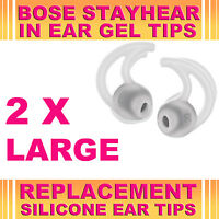 2x Silicone Replacement Large Ear Gel Tips for Bose StayHear Earphone Headphone
