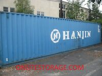 Used 40' Dry Van Steel Storage Container Shipping Cargo Conex  Seabox