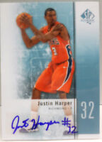2011-12 SP Authentic Justin Harper Rookie Auto Autograph # 20