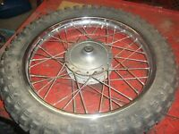 Kawasaki KM 100 1977 front tire and rim I have lots more for this bike/others