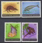 1980 PAPUA NEW GUINEA FAUNA ANIMALS FINE MINT SET OF 4 MNH/MUH