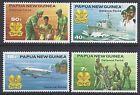 1981 PAPUA NEW GUINEA DEFENCE FORCE FINE MINT SET OF 4 MNH/MUH