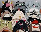 Handmade Wool Animal Laplander Ski Hat 9 Variations Cow Bunny Chicken