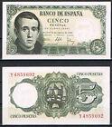 ESPAÑA 5 PESETAS 1951 JAIME BALMES Pick # 140 EBC+ XF+
