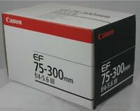Brand New Canon EF 75-300 mm F/4.0-5.6 III Lens for Canon SLR Cameras