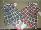 NEW Carters Baby Girls Pink Purple Christmas Dress w/ Mary Jane Tights 3M 6M NWT