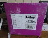 KENLEYS SET OF 6 NESTED SQUARE GIFT BOXES CAT DESIGN PINK BLACK OR SILVER