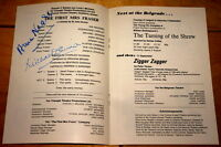 ANNA NEAGLE MICHAEL DENISON ~ VERY RARE HAND SIGNED THEATRE PROGRAMME PLAYBILL