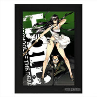 HIGH SCHOOL OF THE DEAD Ref 10 Framed Anime Poster A4 Black Frame