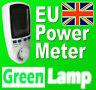 New EU Power Meter Energy Monitor  Esocket Plug-in KWH Watt Electricity Meter