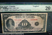 PMG 20  Bank Of Canada 1935 $10