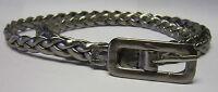 (B245/6) stylish Thin Woven Plaited PU Leather belt for ladies