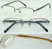 HM05 Superb Quality Semi Rimless Reading glasses & Spring Hinges & Classic Style