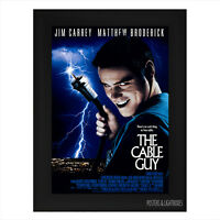 THE CABLE GUY JIM CARREY Framed Film Movie Poster A4 Black Frame